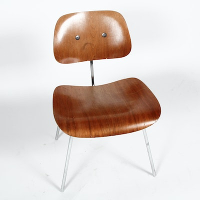 Vintage Mid Century Modern Eames DCM Side Chair by Herman Miller