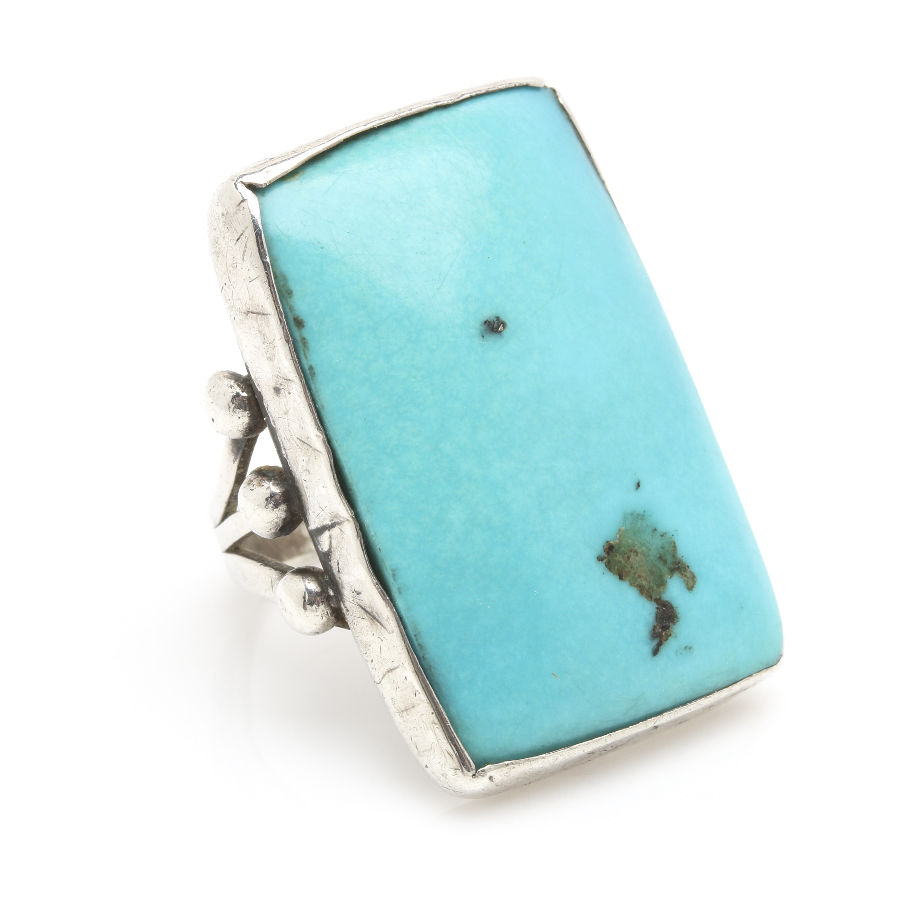 Sterling Silver Turquoise Cabochon Ring