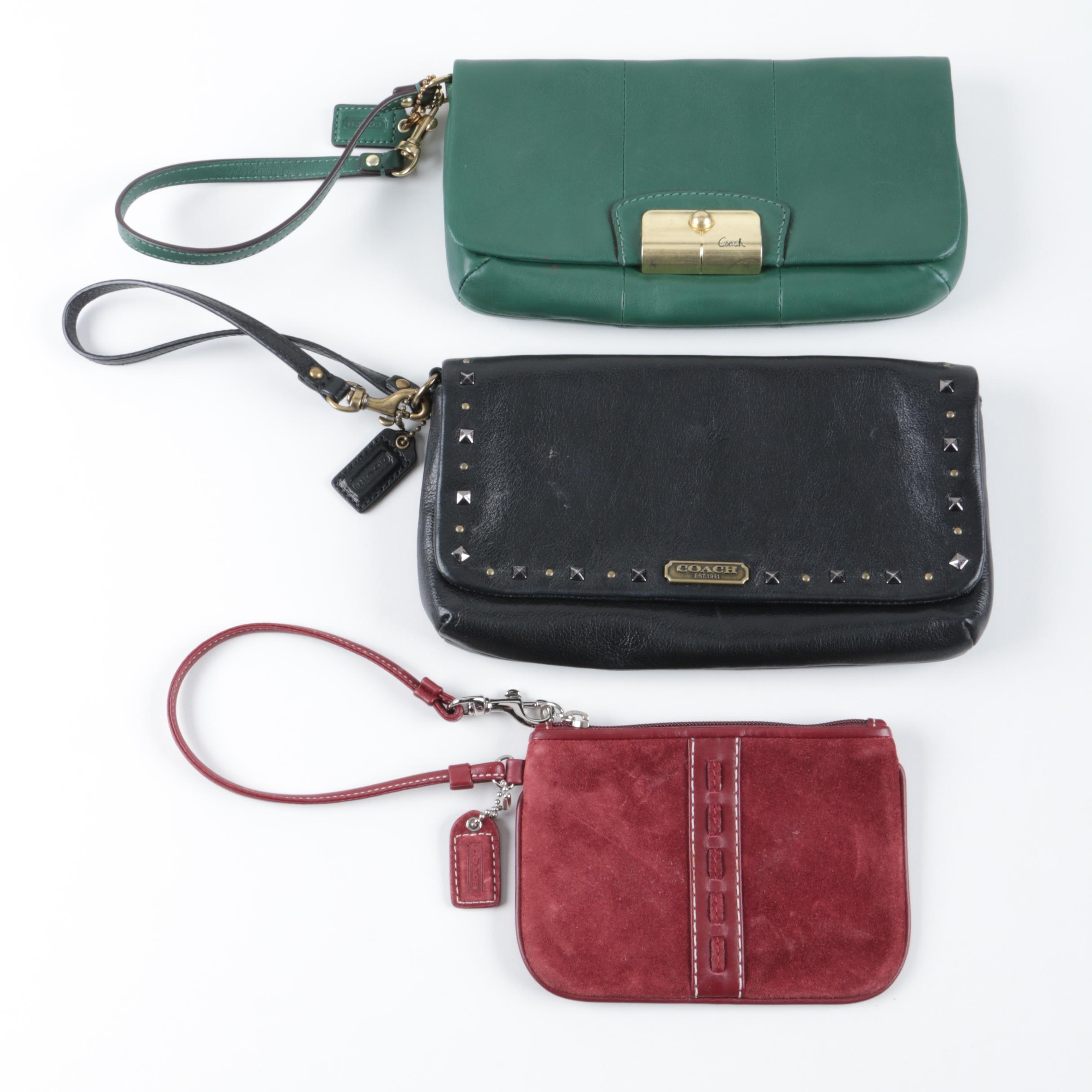 Coach Leather and Suede Wristlets
