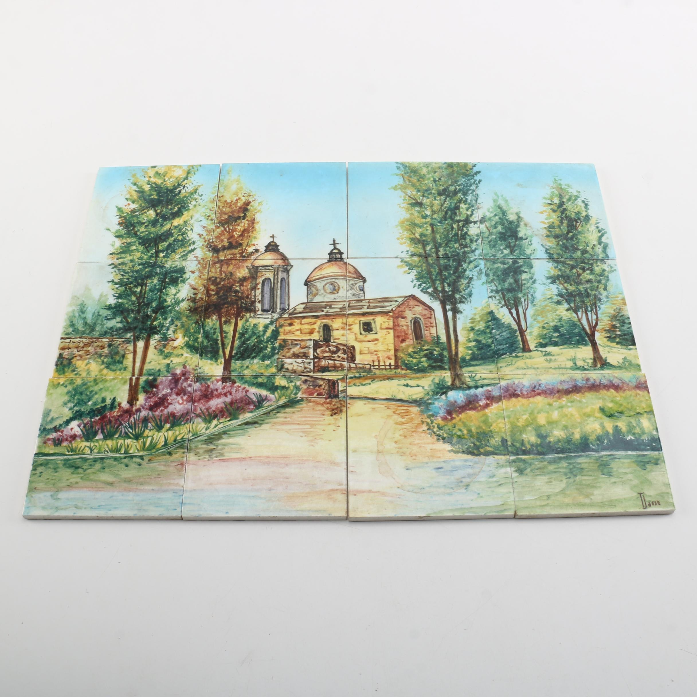 Hand-Painted Mexican Ceramic Pictorial Tiles