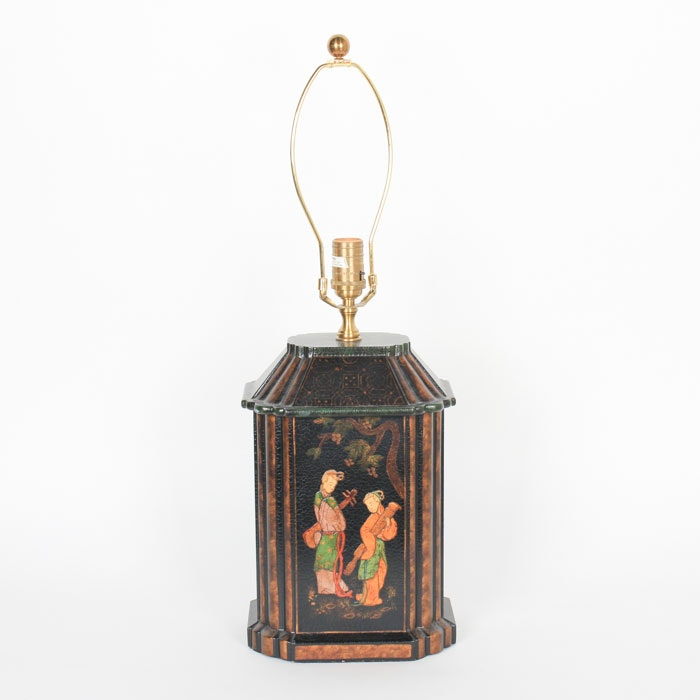 Chinoiserie Hand-Painted Table Lamp
