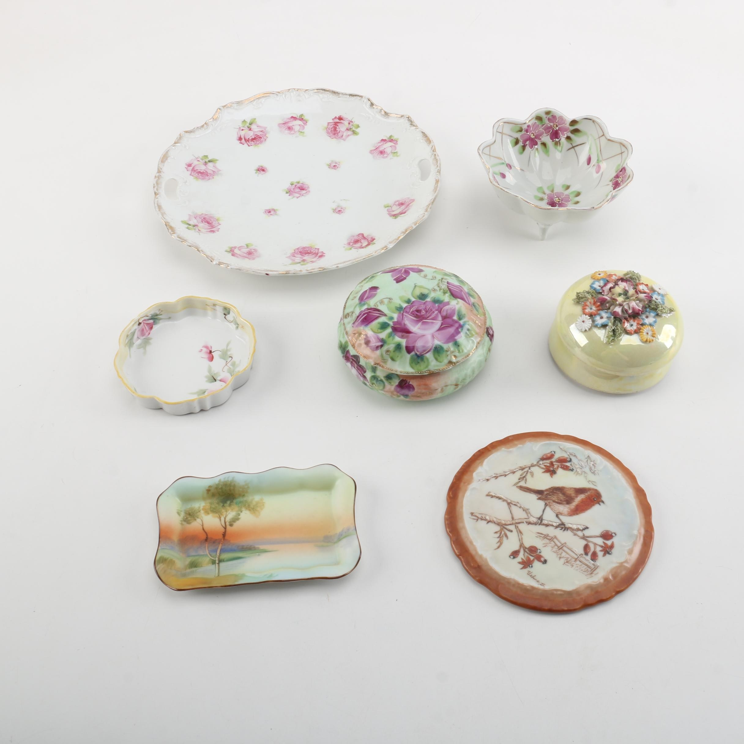 Porcelain Home Decor Featuring Hand Painted Nippon