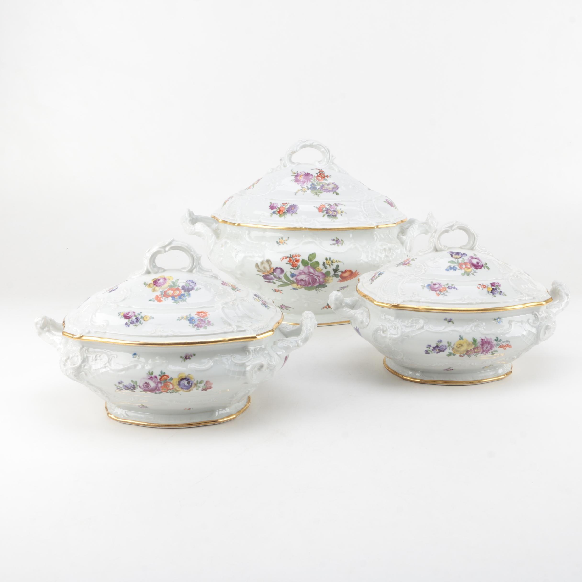 1917-26 Fraureuth Porcelain Tureens