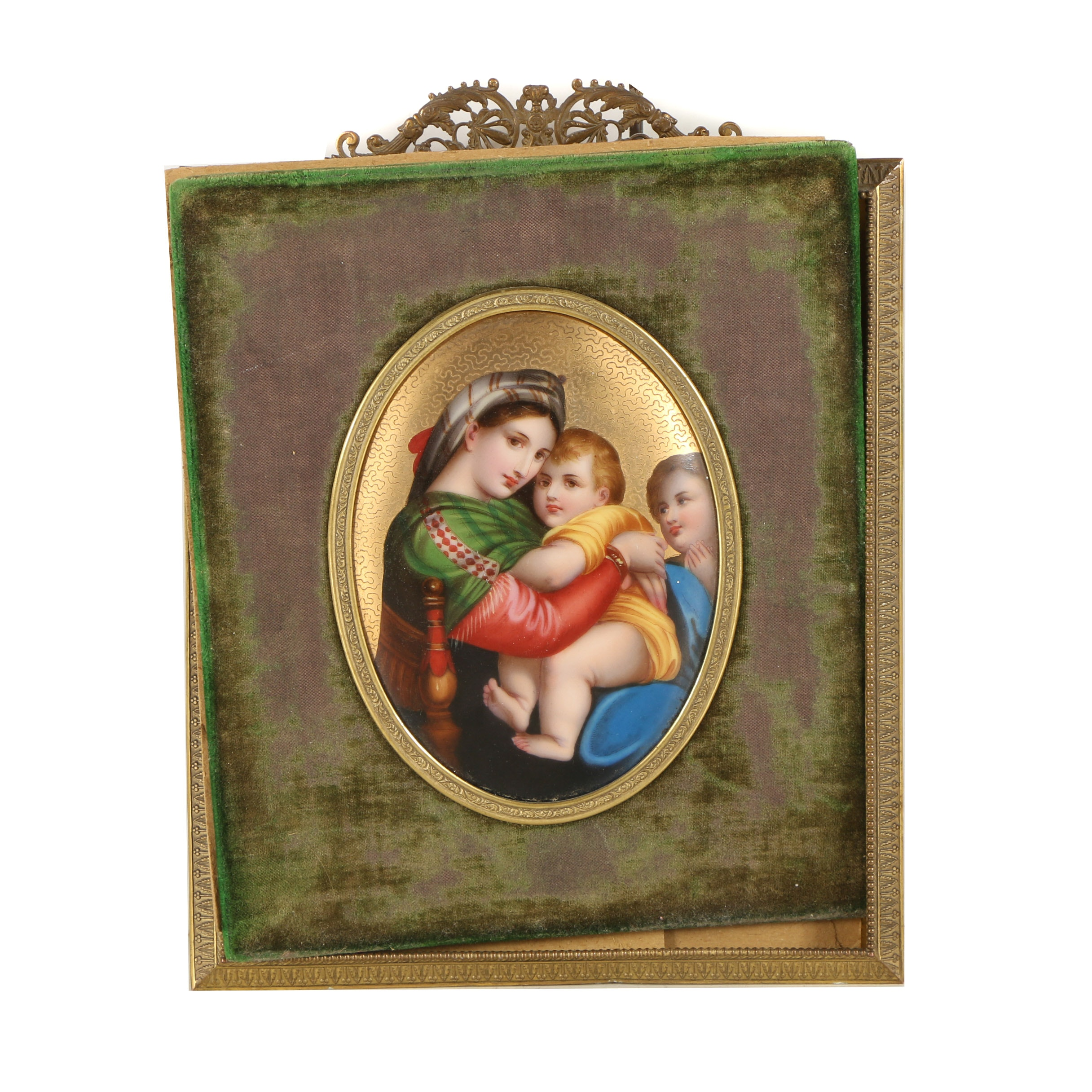 "Acrylic Painting after Raphael ""Madonna Della Sedia"""