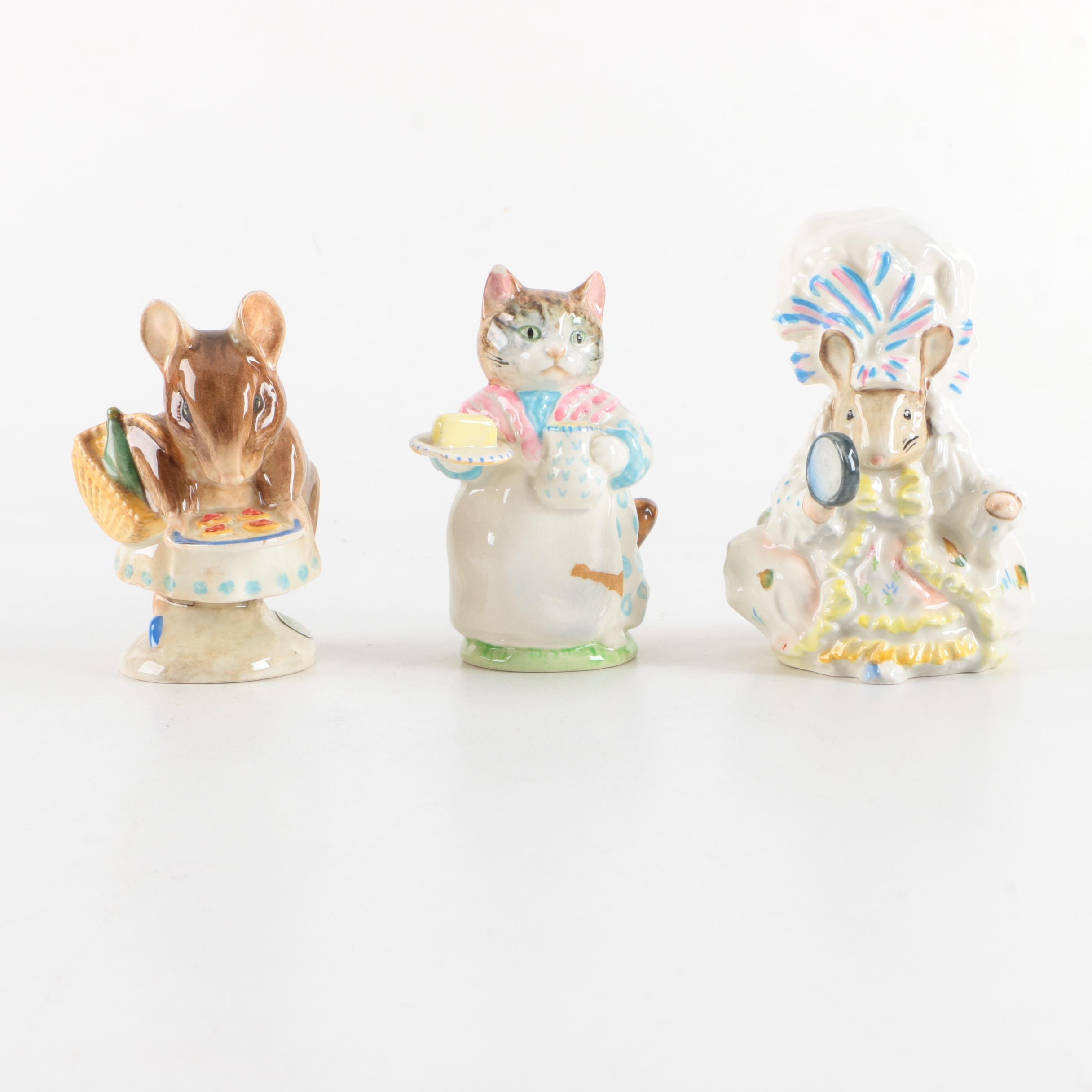 Collection of Beatrix Potter Ceramic Figurines
