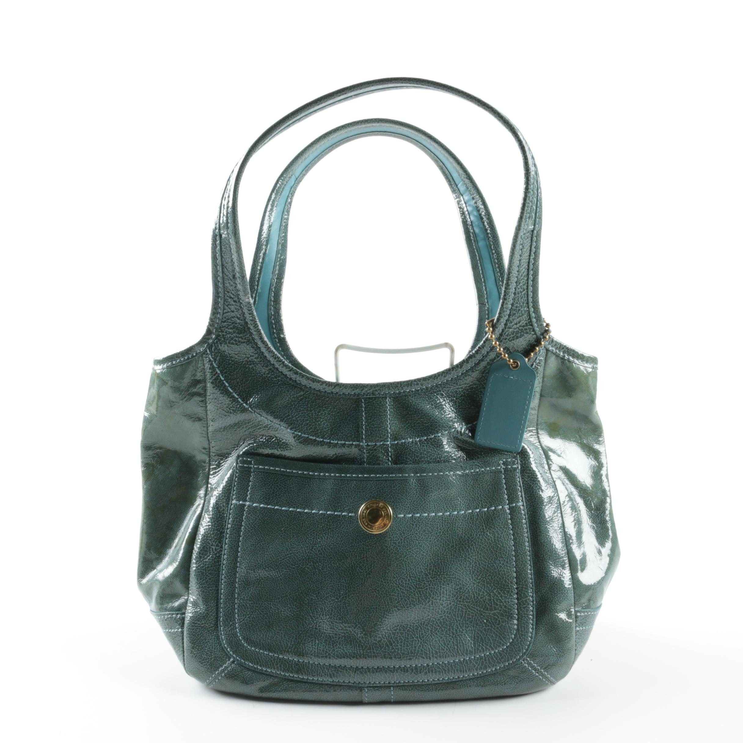 Coach Legacy Ergo Patent Leather Tote Bag