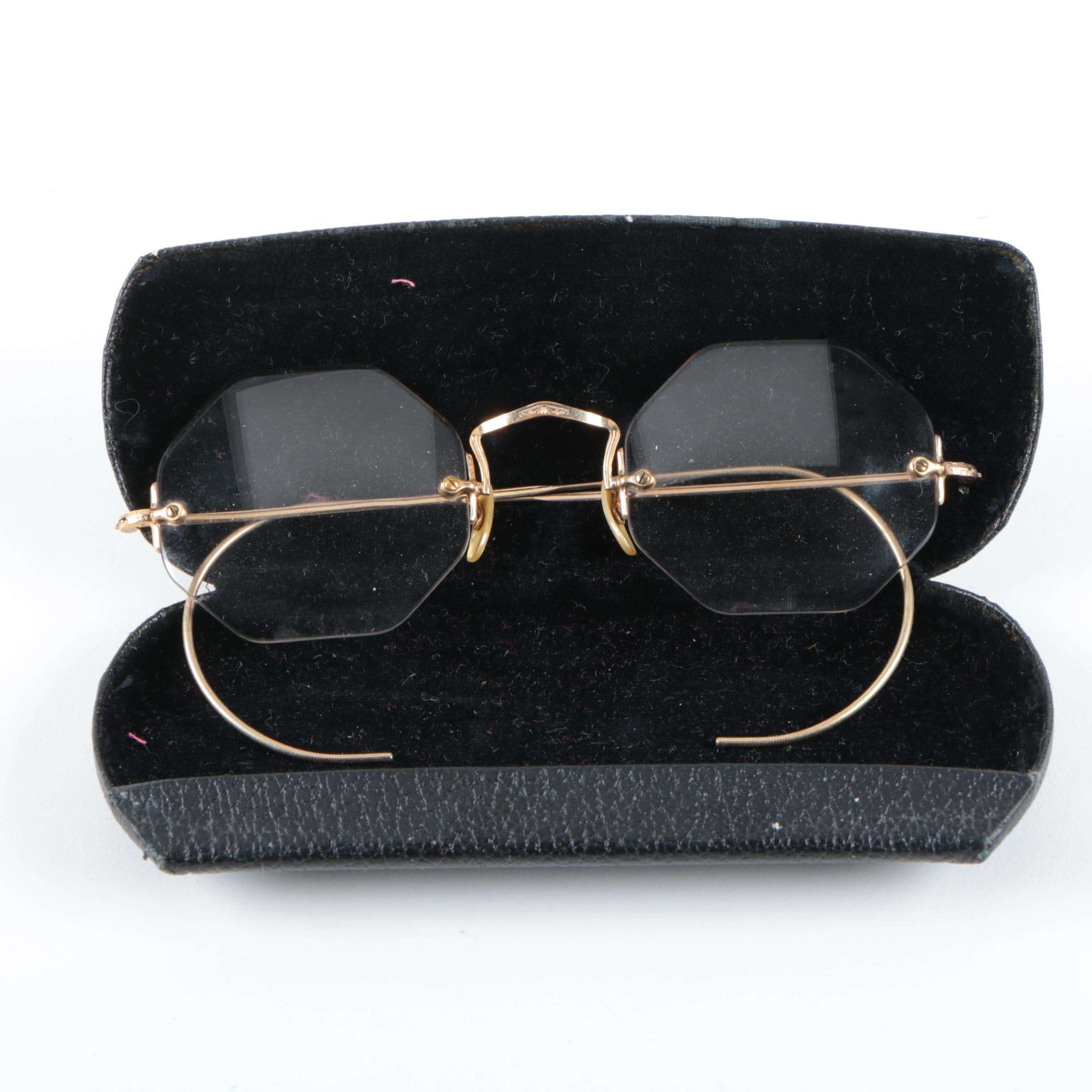 Bausch & Lomb Rimless Geometric Eyeglasses with Case