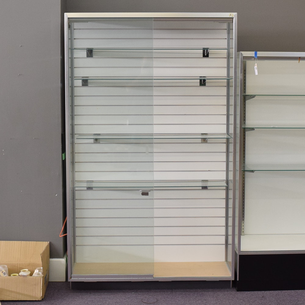 Glass and Metal Retail Display Cabinet