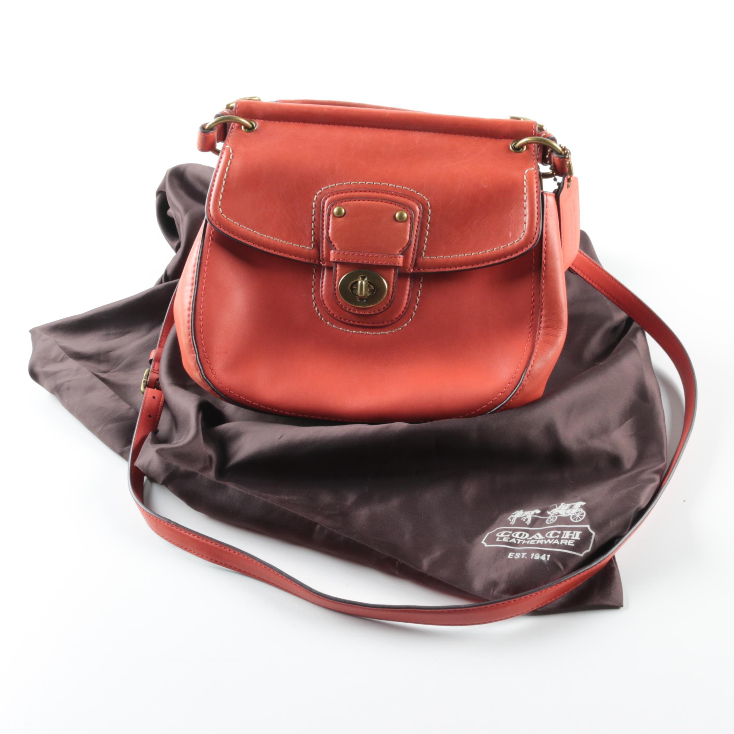 Coach 70th Anniversary Vermillion Leather New Willis Crossbody Handbag