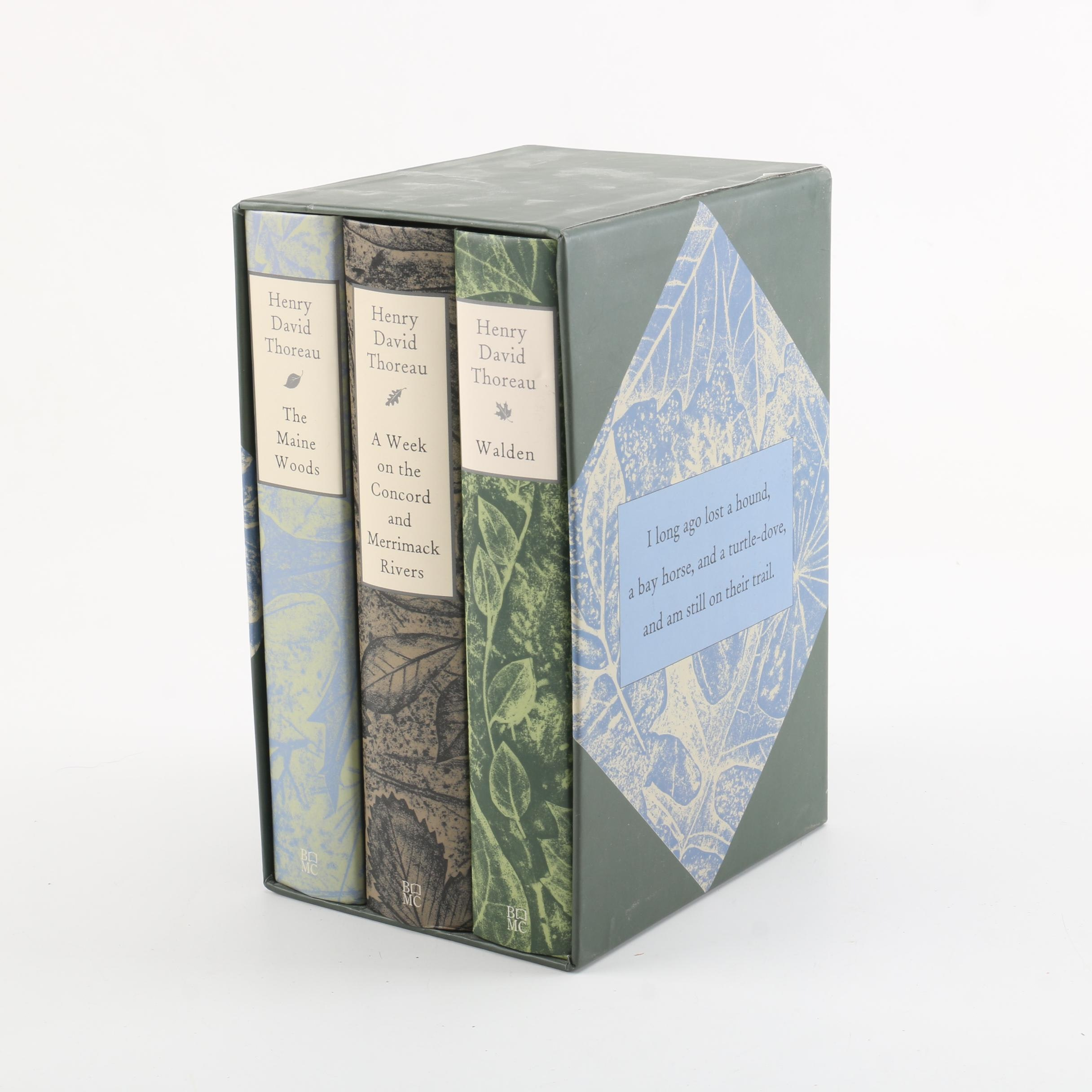 Book-of-the-Month Club Box Set of Works by Henry David Thoreau