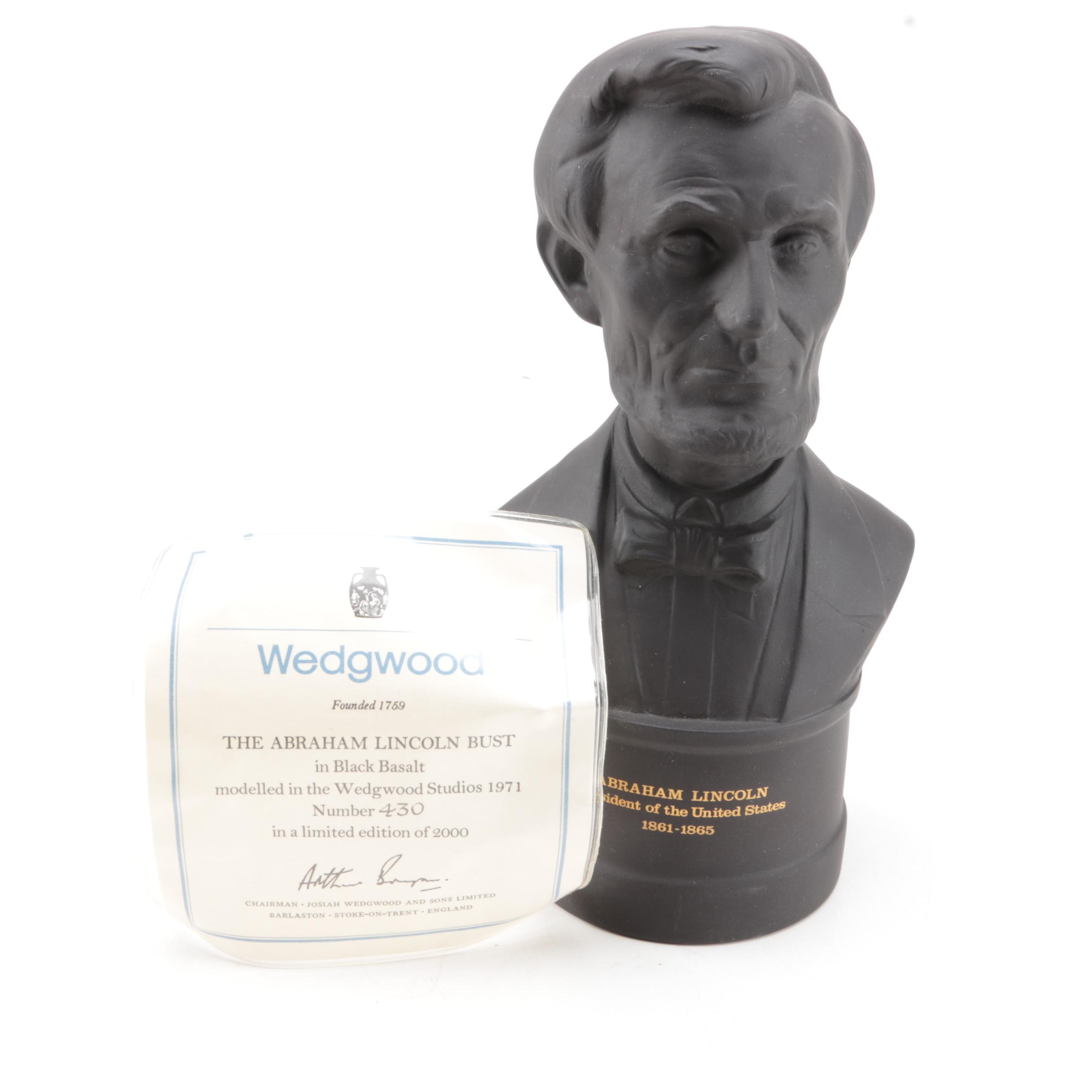 Wedgwood Basalt Bust of Abraham Lincoln