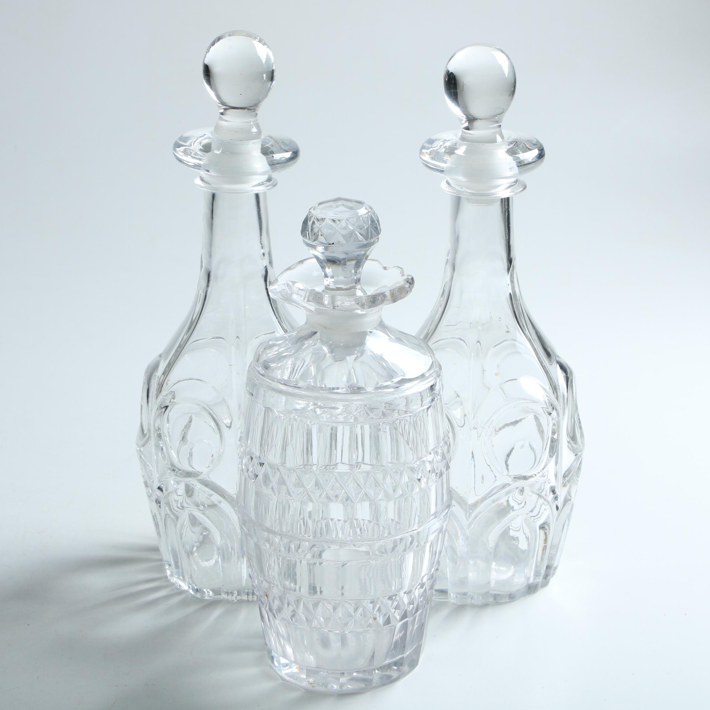 Pressed Glass Decanters