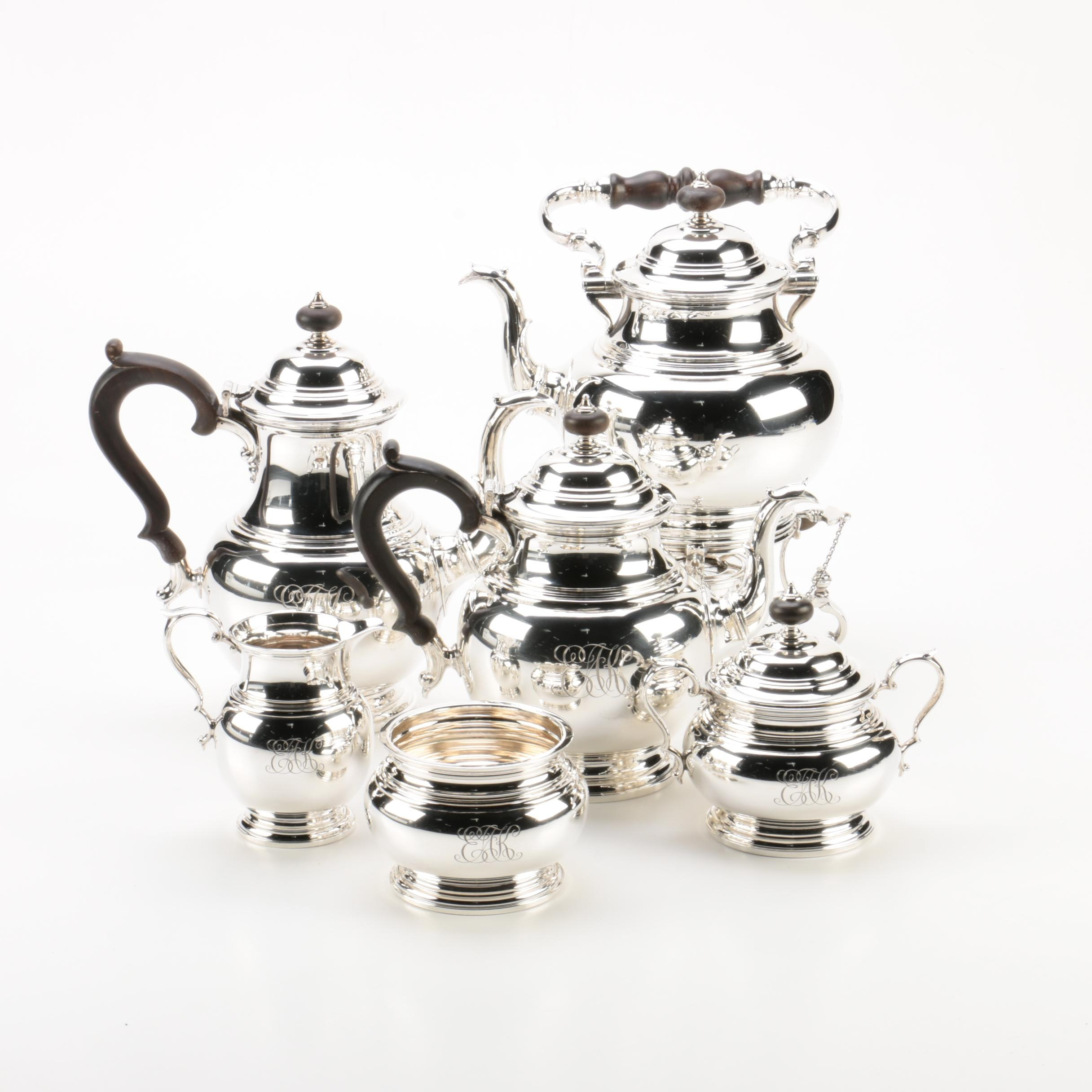 Early 1940s - Early 1950s Gorham Sterling Silver Coffee and Tea Set