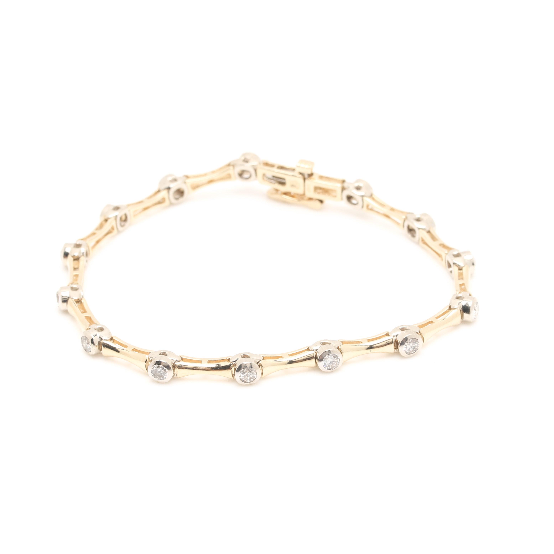 14K Yellow Gold 1.40 CTW Diamond Bracelet
