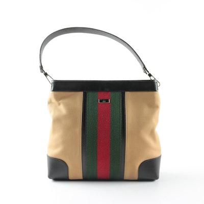 94eff29a5dcf Gucci Canvas Signature Web Shoulder Bag