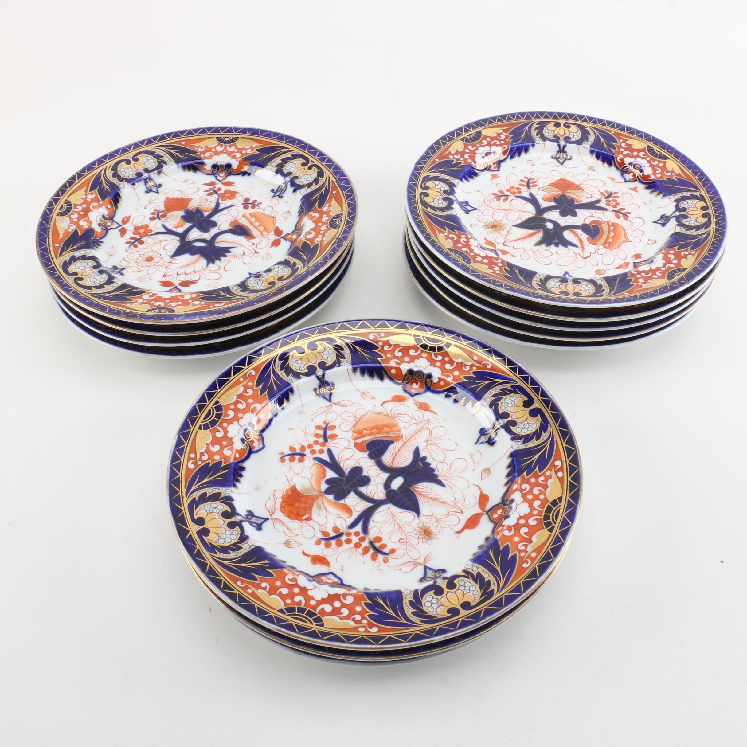 Antique Chamberlains Regent China Dinner Plates 1840-45