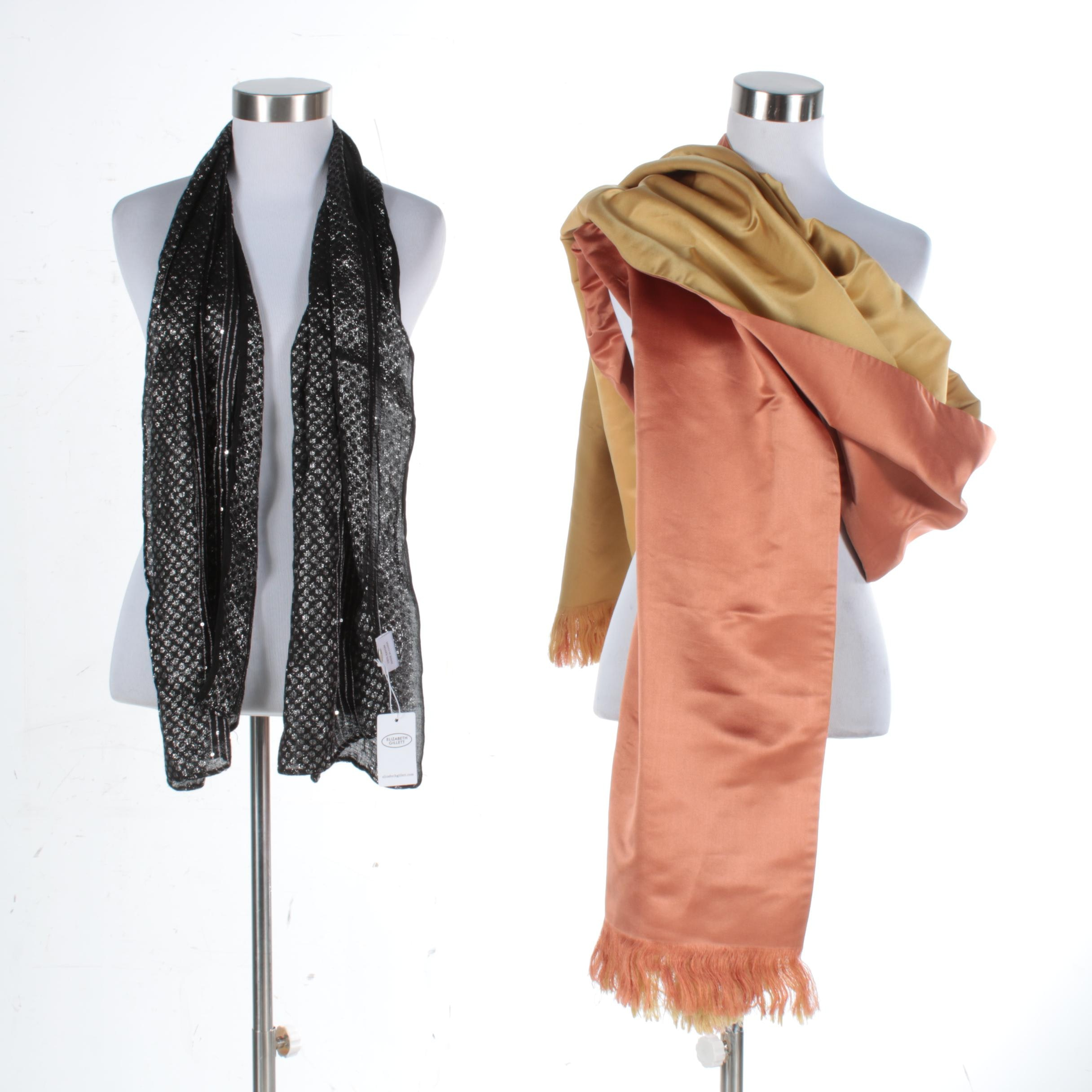 Wrap and Elizabeth Gillett Scarf