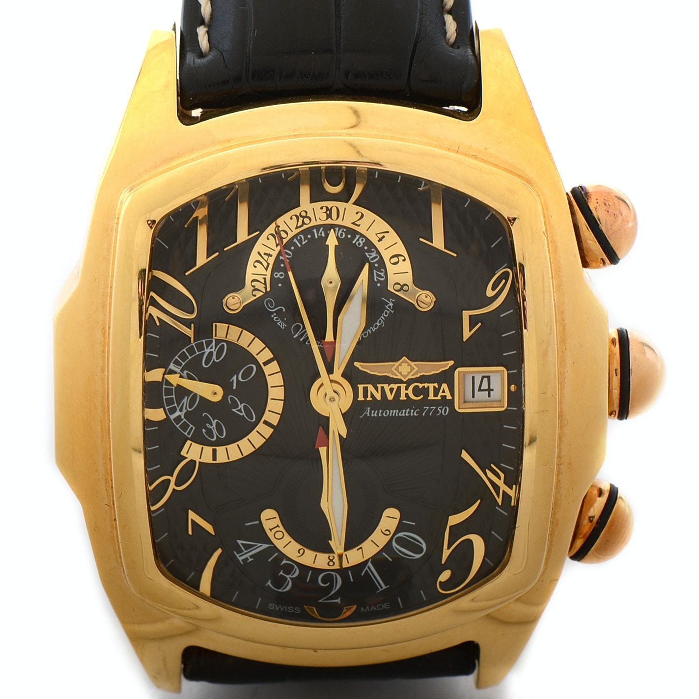 18K Yellow Gold Invicta Dragon Lupah Automatic