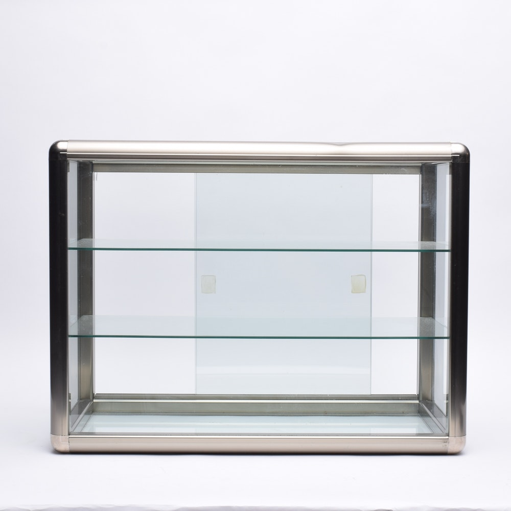 Small Glass and Metal Display Cabinet