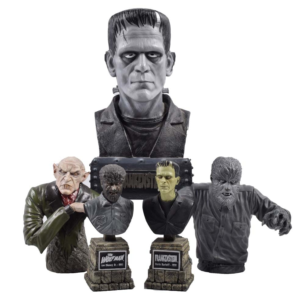 Classic Horror Film Character Busts