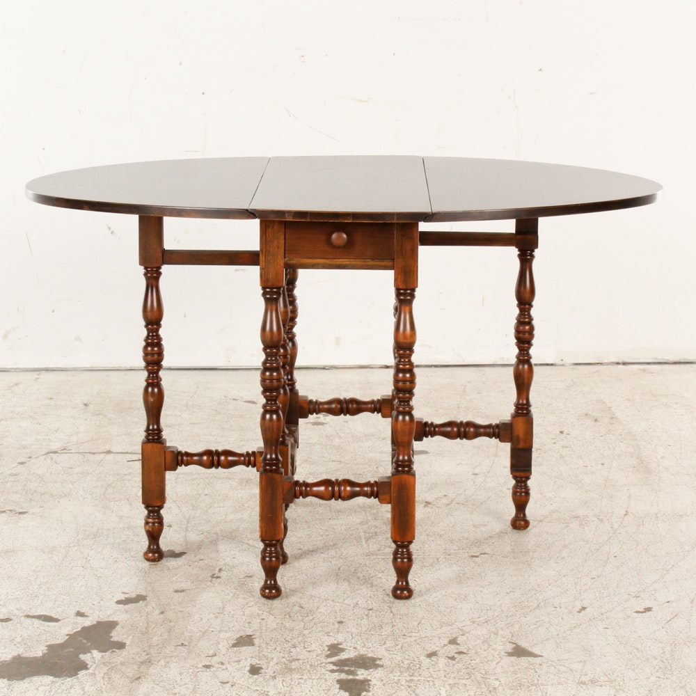 Vintage English Oval Gateleg Table ...