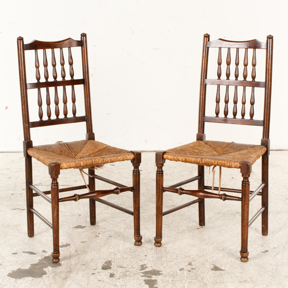 English Revival Spindle-Back Side Chairs