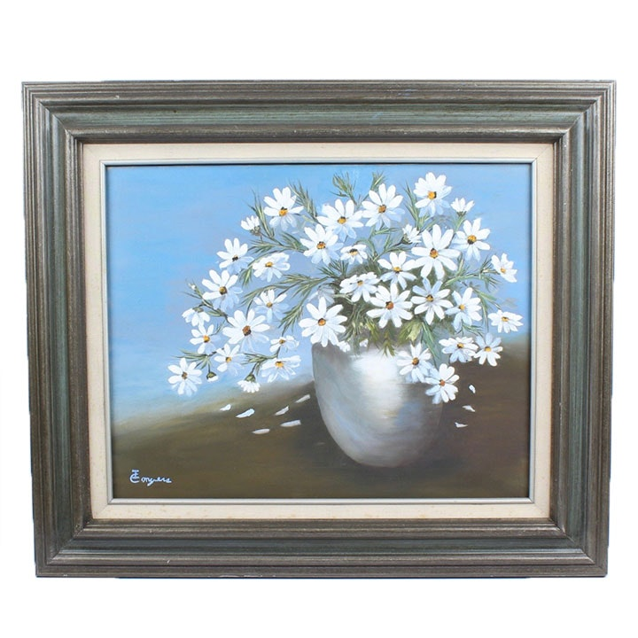 Original Floral Still Life Oil Painting on Canvas