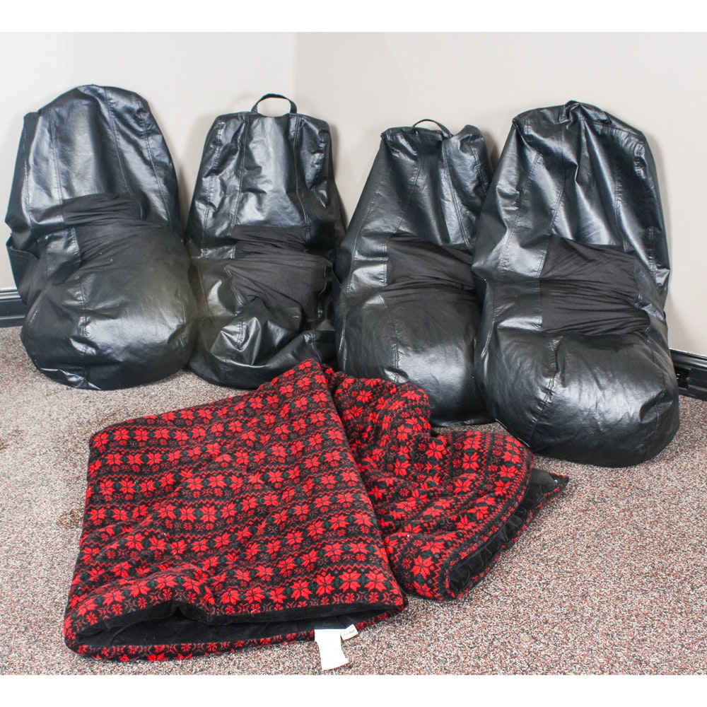 Bean Bag Chairs and L.L. Bean Blanket