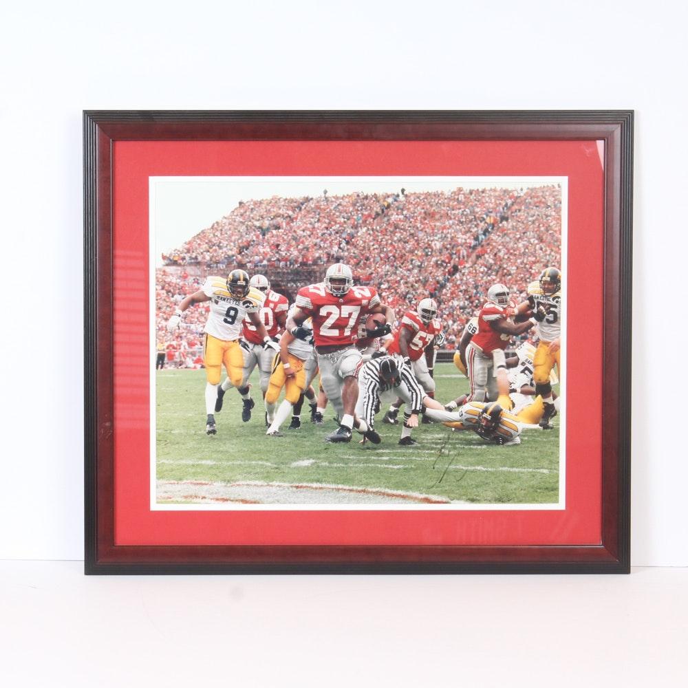 Eddie George Autographed Ohio State Buckeyes Photo Print