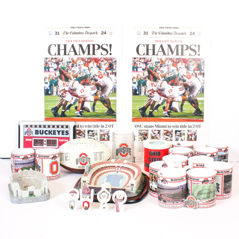 Ohio State Buckeyes Collectibles Featuring Danbury Mint