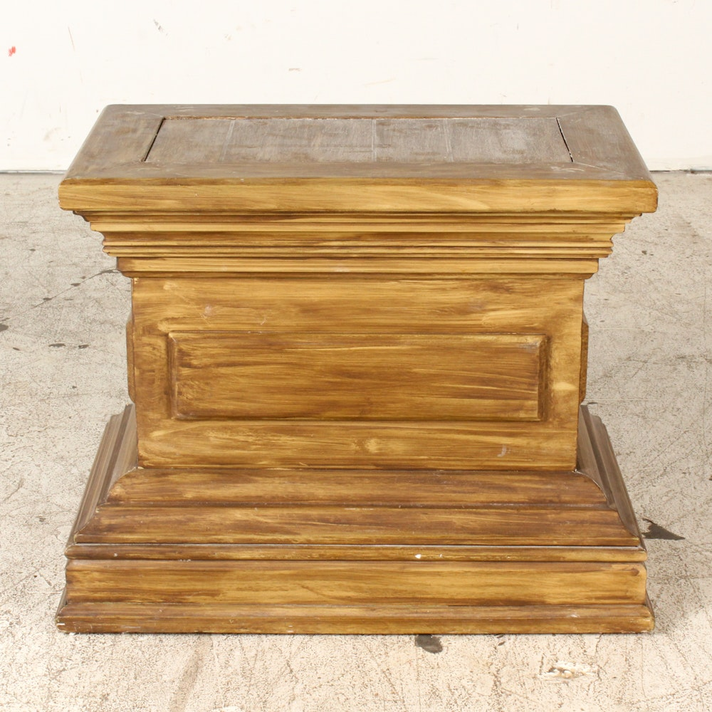 Neoclassical Style Pedestal Side Table
