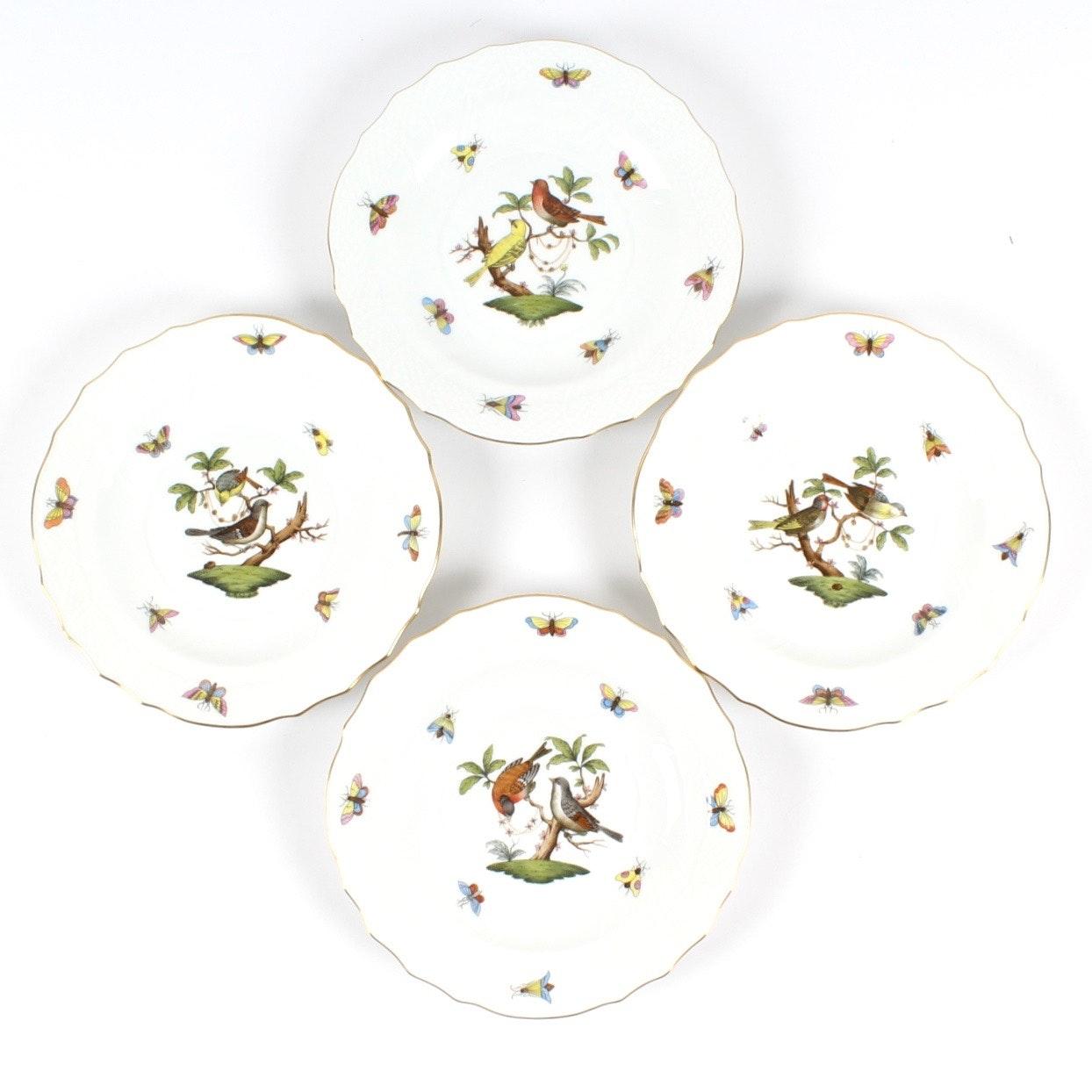 """Herend """"Rothschild Bird"""" Salad Plates"""