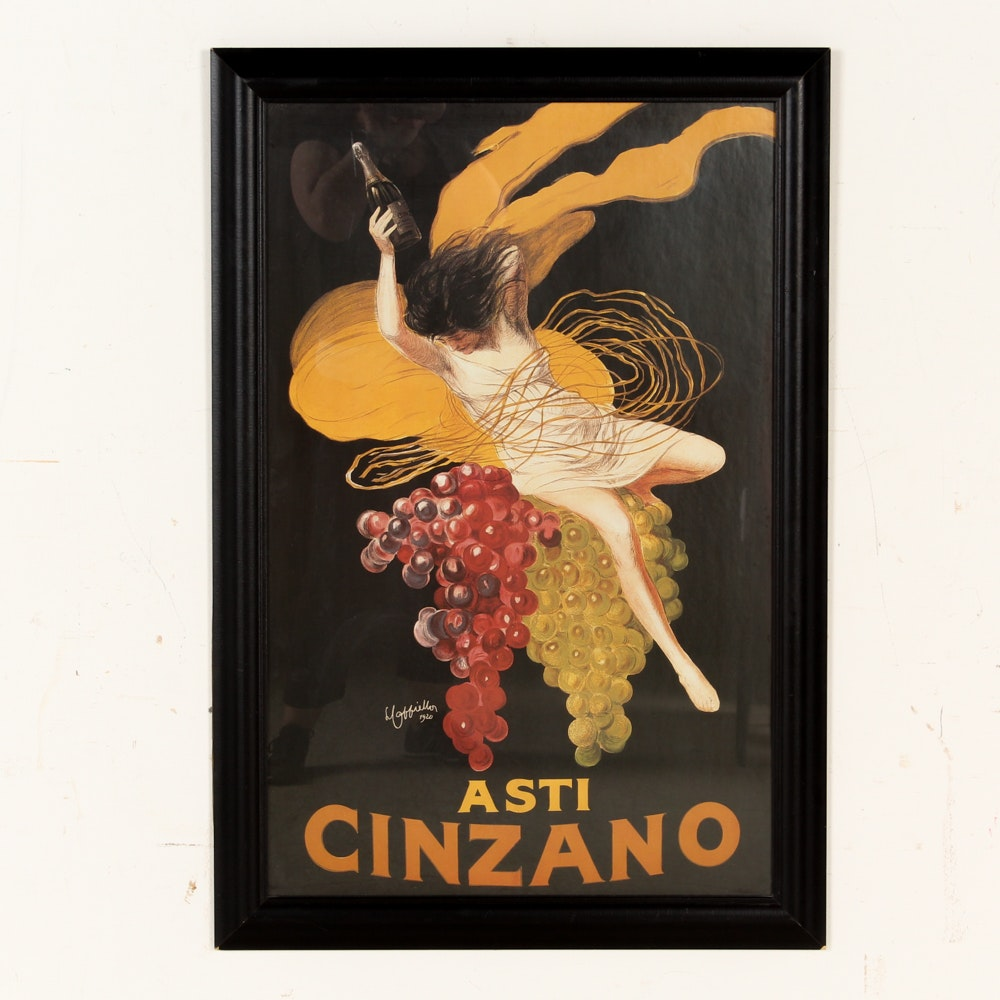 "Offset Lithograph Poster After Leonetto Cappiello ""Asti Cinzano"""
