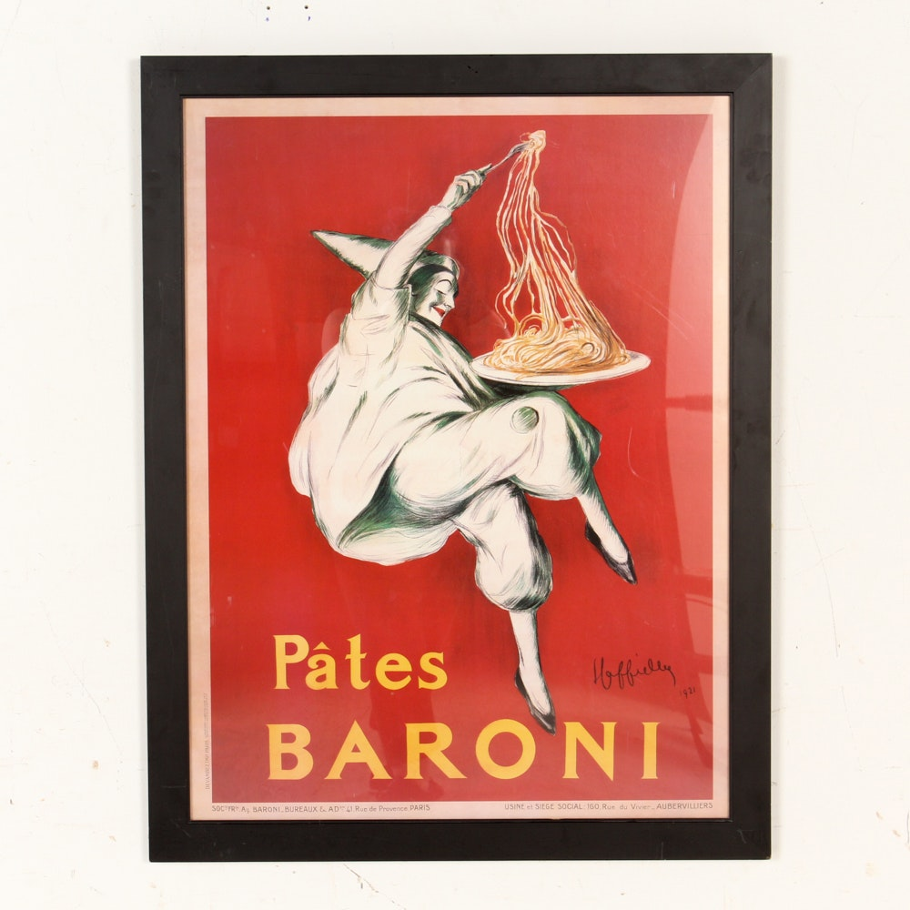 "Offset Lithograph Poster After Leonetto Cappiello ""Pâtes Baroni"""