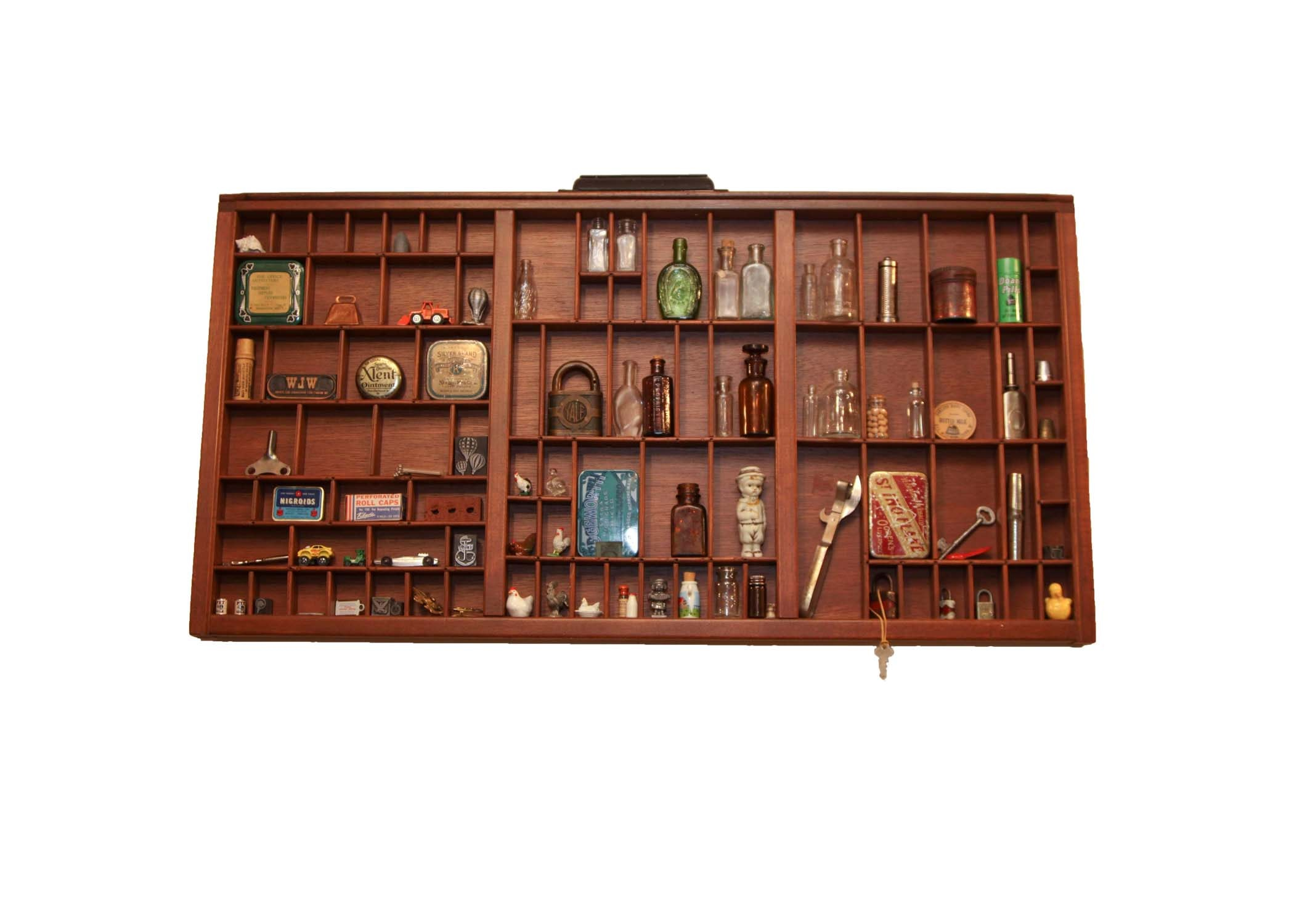 Type Setting Tray with Miniatures