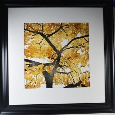 "Lithograph ""Golden Leaves"" After Kate Bennett"