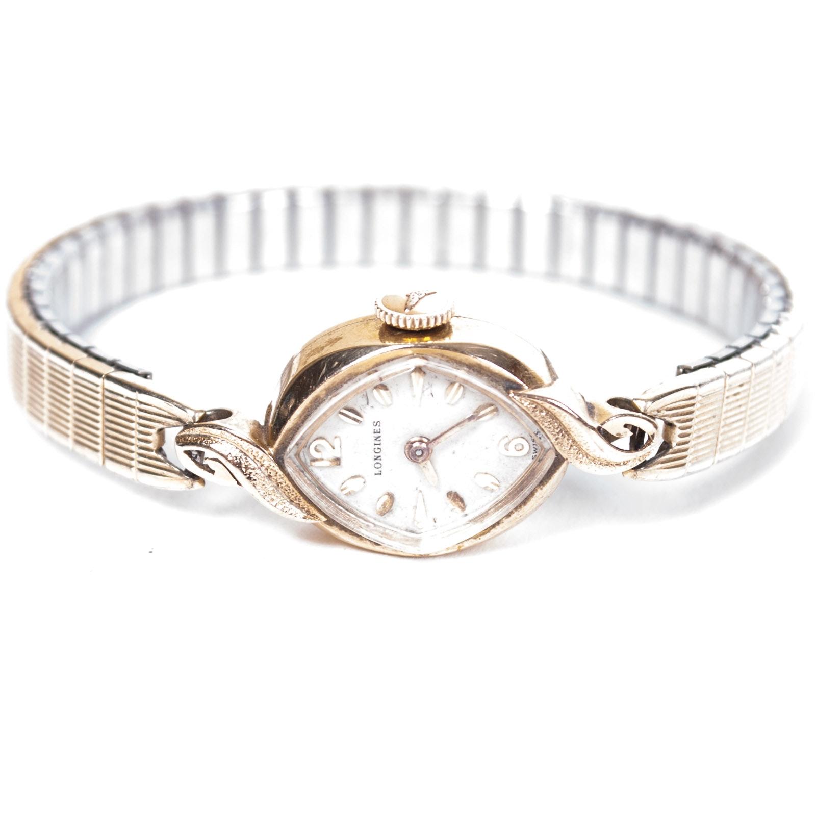 Longines 14K Yellow Gold Stem Wind Wristwatch