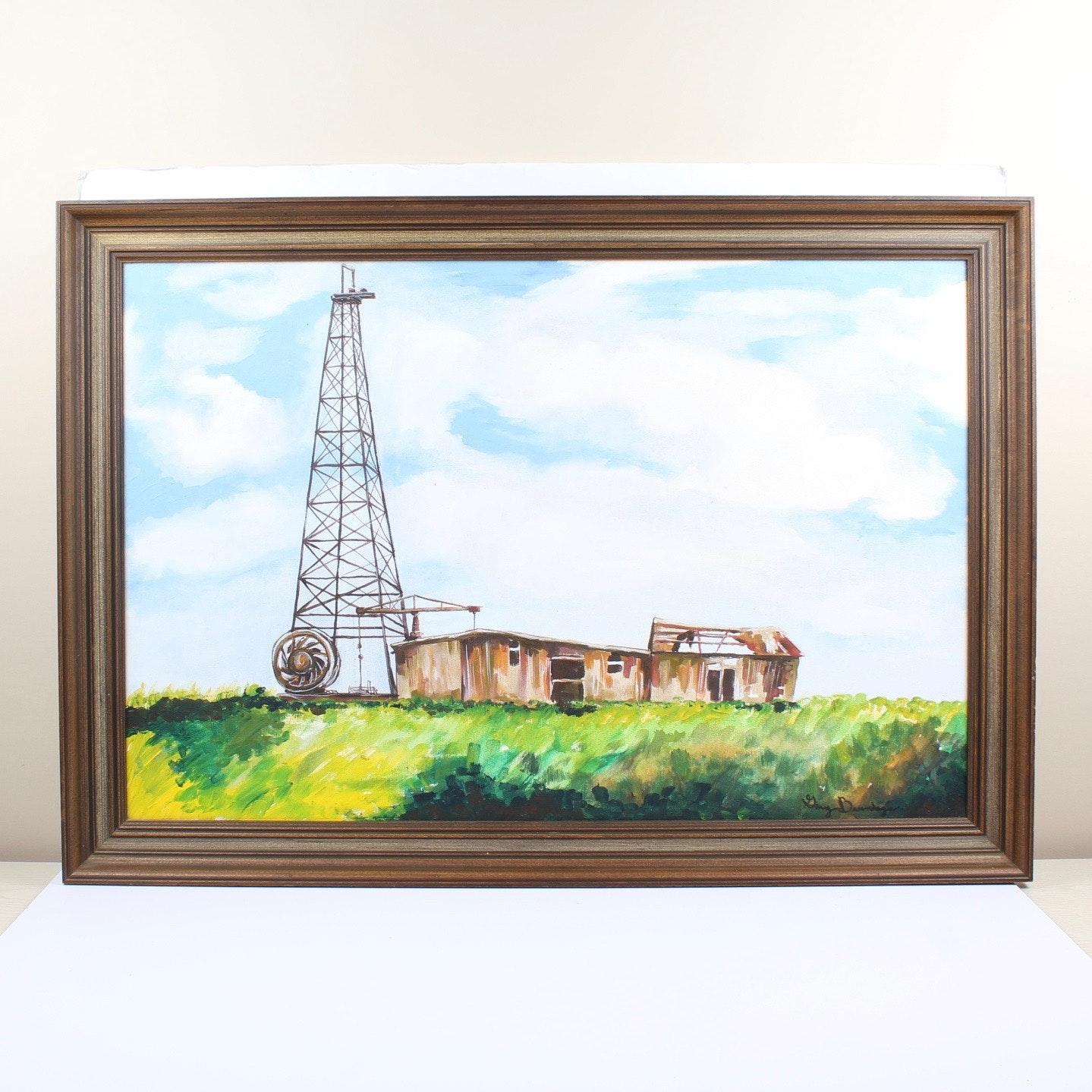 Gary Brundage Original Acrylic Landscape Painting on Canvas