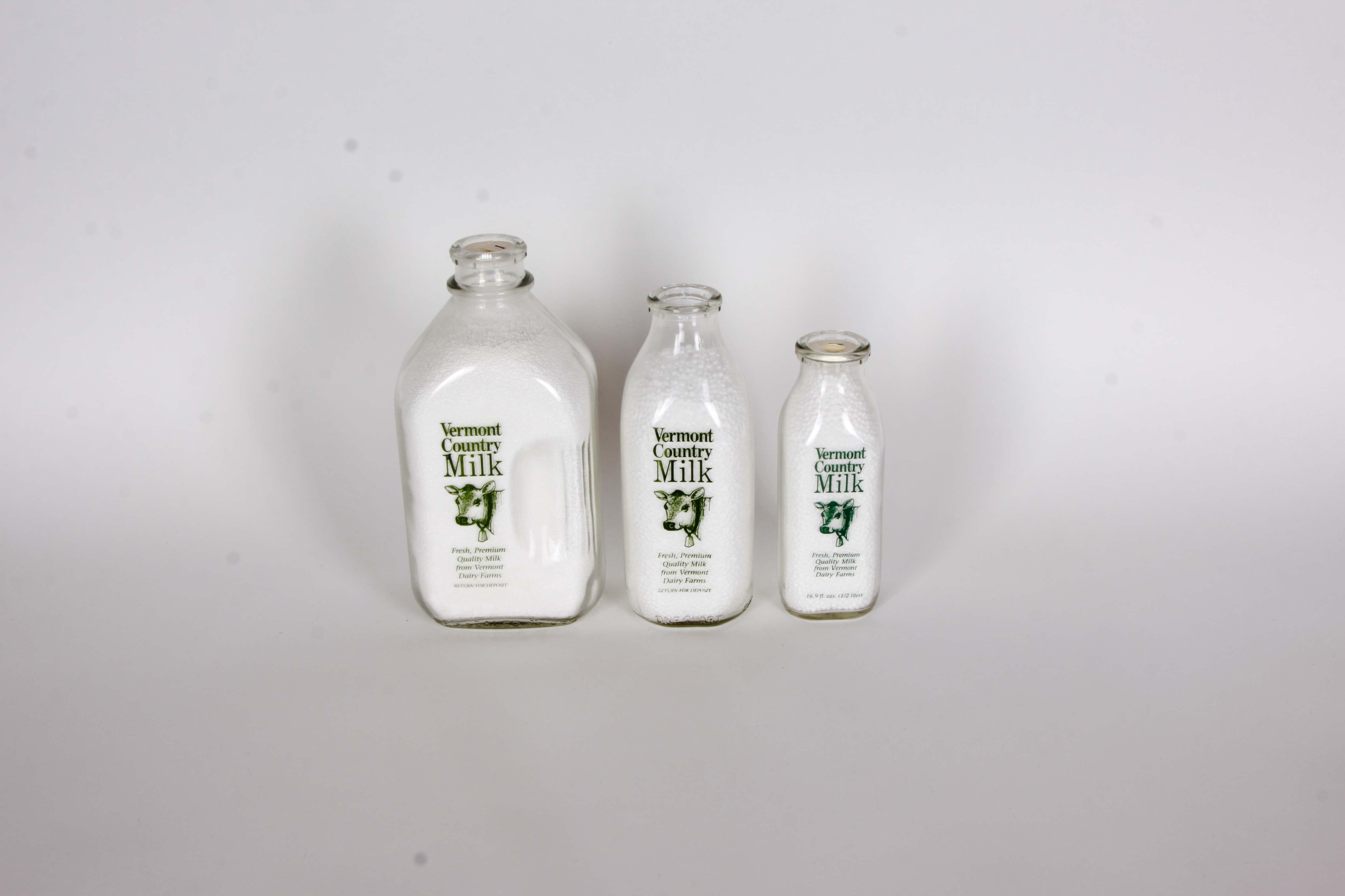 Vermont Country Milk Bottles Set