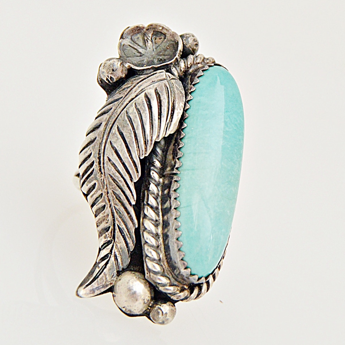 Robert Kelley Navajo Diné Sterling Silver and Turquoise Ring