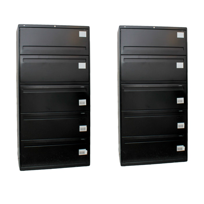 Two Vertical Filing Cabinets by Hon