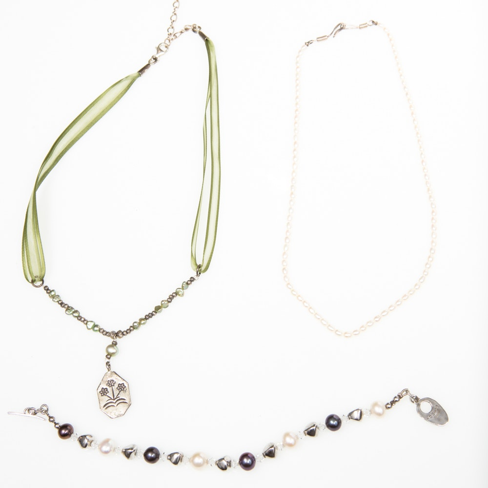 Freshwater Cultured and Dyed Pearls Collection