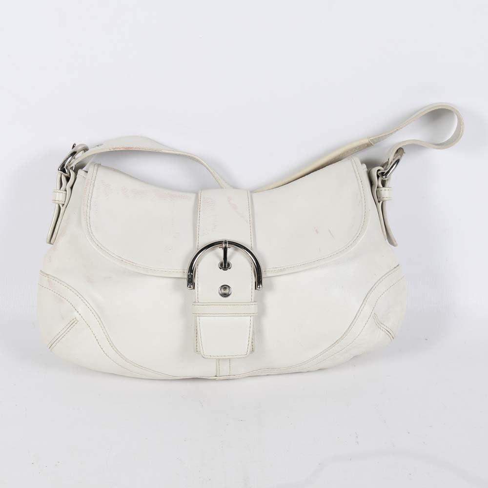 Coach White Leather Soho Hobo Bag
