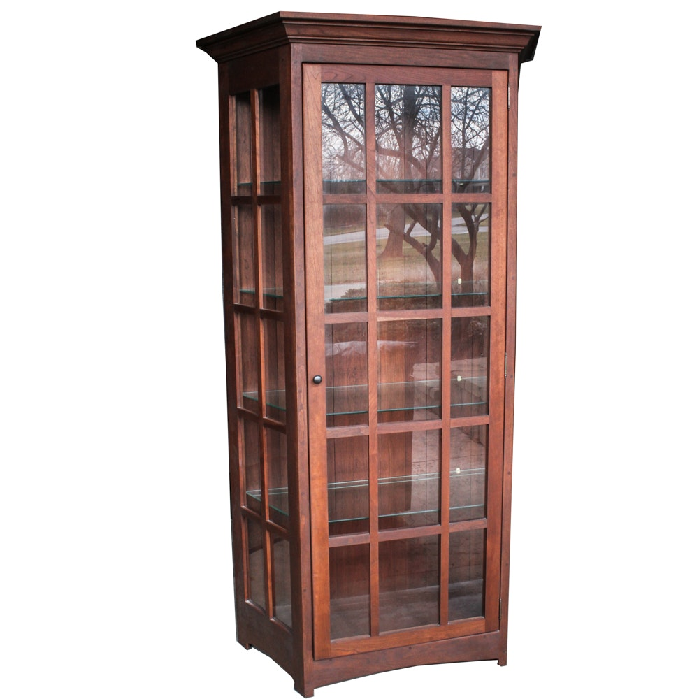 Amish Heritage Furniture Walnut Curio Cabinet ...