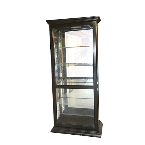 Tall Lighted Display Cabinet ...