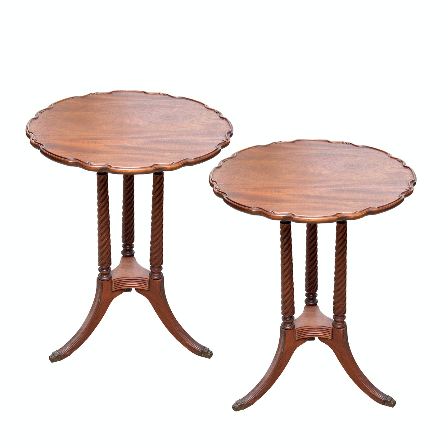 Mahogany Carved Side Tables
