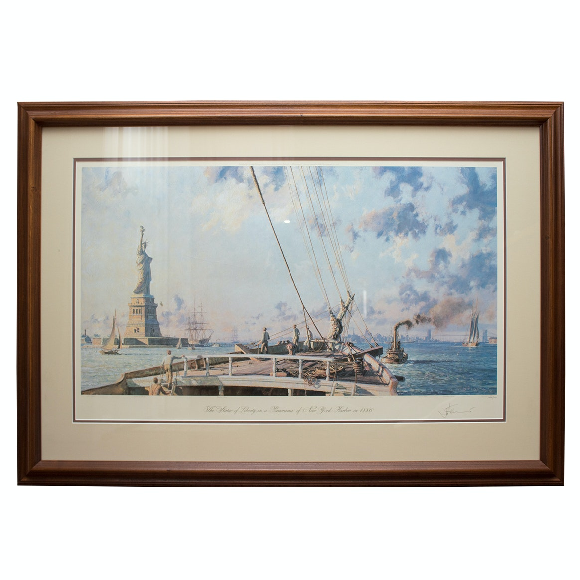 """John Stobart Limited Edition Offset Lithograph """"Statue of Liberty"""""""