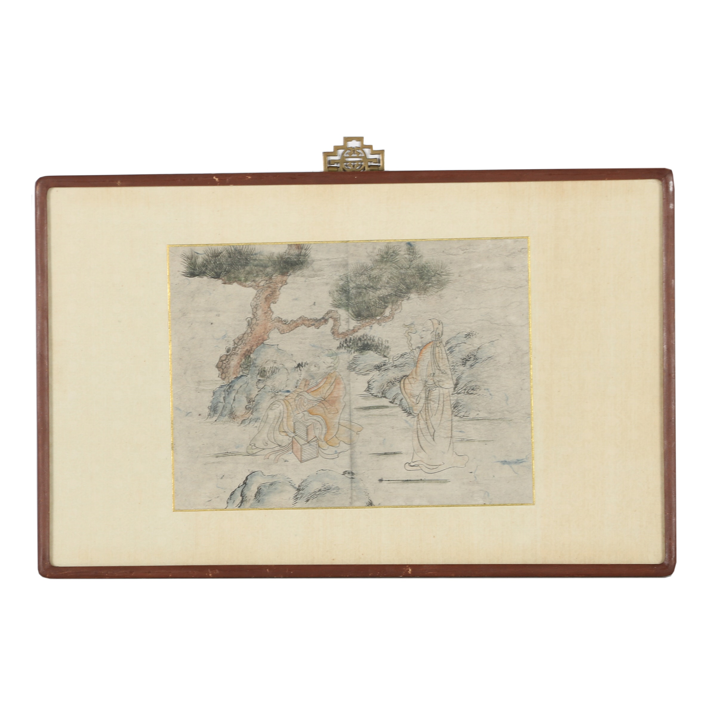 Chinese Watercolor Painting of Figures