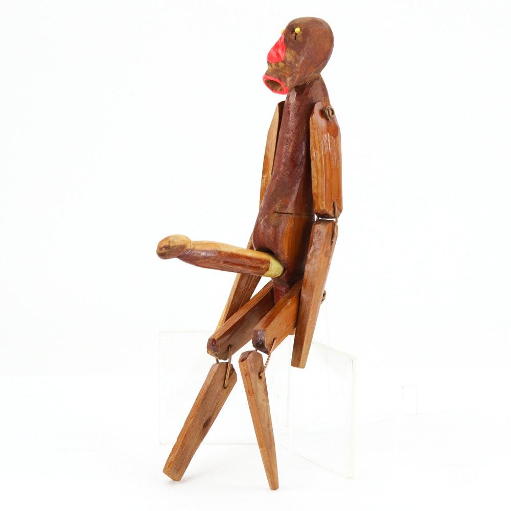 Henry York Folk Art Sculpture of Nude Male Figure