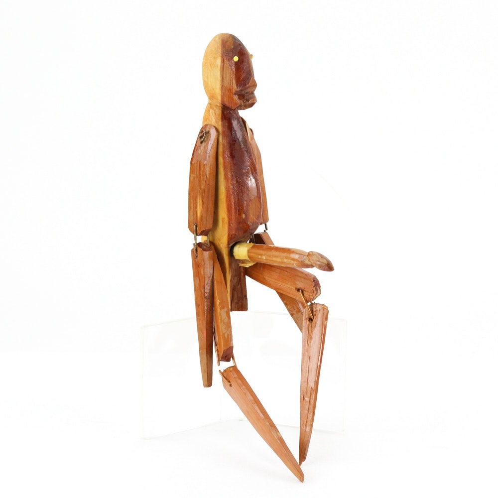 Henry York Folk Art Sculpture of Nude Male Figure